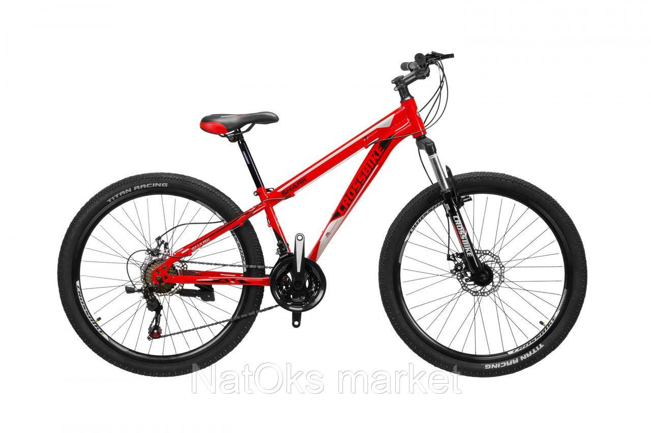 "Велосипед Cross Shark 26"" (red - black - silver)"