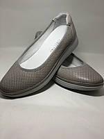 Женские туфли -балетки с перфорацией на утолщенной подошве. Натуральная кожа. Размер 39,40,. Супер комфорт, фото 6