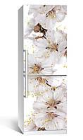 Виниловая наклейка на холодильник ReD Цветы вишни. 65х200 см