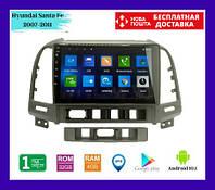 "Автомагнитола штатная Hyundai Santa Fe 2008 (9"") Android 10.1 (4/32)"
