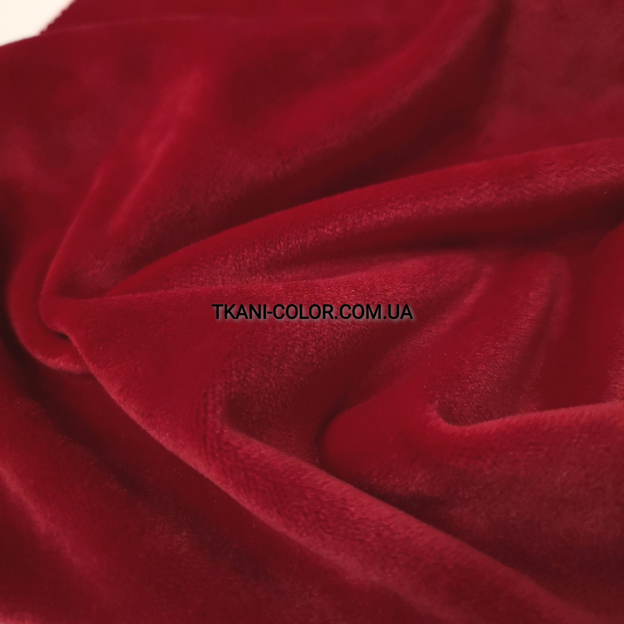 Ткань плюш велюр красный