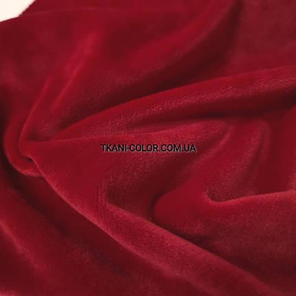 Ткань плюш велюр красный, фото 2