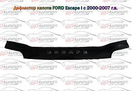 Мухобойка, дефлектор капота FORD Escape I 2000-2007 (Vip tuning)