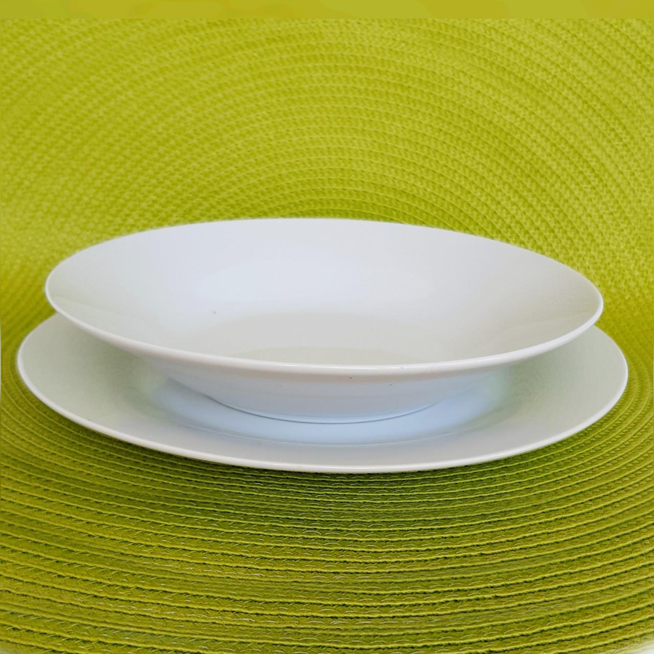 Тарілка глибока десертна біла 200 мм арт. 4403