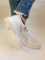 Lonza. Стильные женские кеды-кроссовки белые.Вязанный текстиль с сеткой.Отличное качество! Р. 37, фото 4