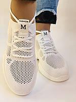 Lonza. Стильные женские кеды-кроссовки белые.Вязанный текстиль с сеткой.Отличное качество! Р. 37, фото 3