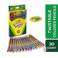 Цветные карандаши Crayola Twistables 30 выкручивающихся карандашей, набор для рисования Крайола