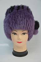 Модная женская меховая шапка мех кролика