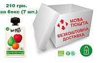 Пюре Be Plus з органічних фруктів (яблуко, грушата абрикос), бокс 7 шт. Х 100 грам