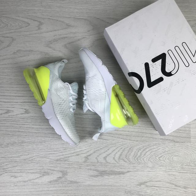 женскиекроссовки Nike Air Max 270 реплика ААА, Nike Air Max, купить кроссовки Найк Аир Макс 270 белые