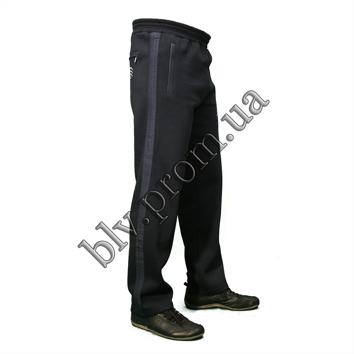 Теплые мужские брюки байка KD684 Dark blue