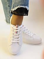 Стильні жіночі кеди-кросівки білі з перфорацією. 36 37 38 40 41 Vellena, фото 3