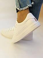 Стильні жіночі кеди-кросівки білі з перфорацією. 36 37 38 40 41 Vellena, фото 6