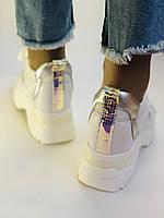 Стильні жіночі кеди-кросівки снікерси. Білі з сіткою.Відмінна якість! 36-39 Vellena, фото 8