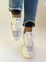 Стильні жіночі кеди-кросівки снікерси. Білі з сіткою.Відмінна якість! 36-39 Vellena, фото 3