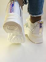 Стильні жіночі кеди-кросівки снікерси. Білі з сіткою.Відмінна якість! 36-39 Vellena, фото 9