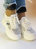 Стильні жіночі кеди-кросівки снікерси. Білі з сіткою.Відмінна якість! 36-39 Vellena, фото 2