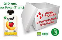 Пюре Be Plus з органічних фруктів (полуниця та банан), бокс 7 шт. Х100 грам