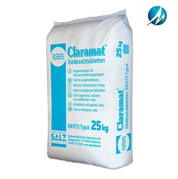 Соль таблетированная Claramat, 25 кг
