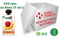 Пюре Be Plus з органічних фруктів (яблуко та банан), ,бокс 7 шт. Х 100 грам
