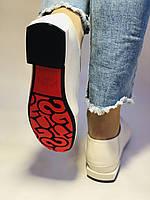 Стильные женские белые туфли-мокасины . Натуральная лакированная  кожа. 37.39.40 Vellena, фото 2