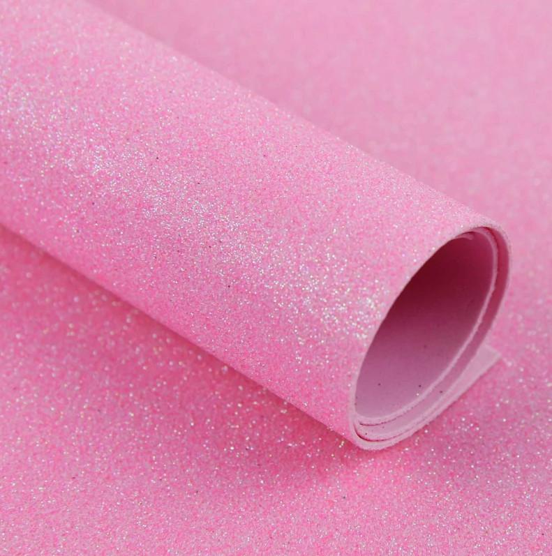 "Фоамиран с глиттером ""хамелеон"", 20х30 см, розовый"