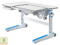 Растущая парта стол Kingwood цвет столешницы - береза | голубые накладки