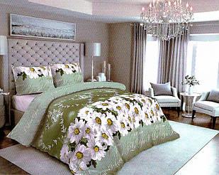 Полуторное постельное белье Бязь Gold комплект размер 150х215 см ромашки