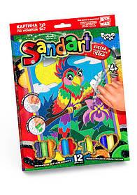 Фреска из песка Sand Аrt Попугай SA-01-06 Danko-Toys Украина