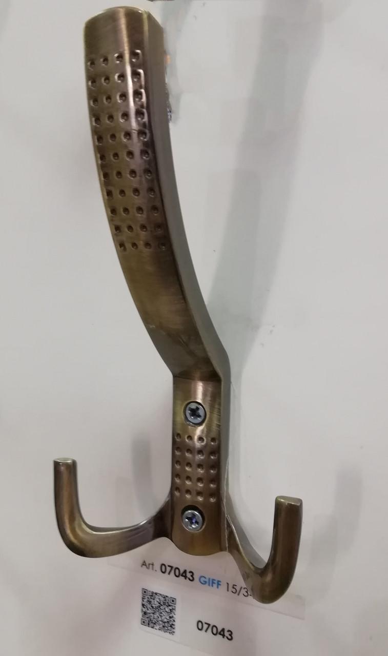 Крючок (крючок) мебельный GIFF 15/343 Античная бронза