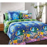 Комплект постельного белья  для детей Подводный мир, разные размеры