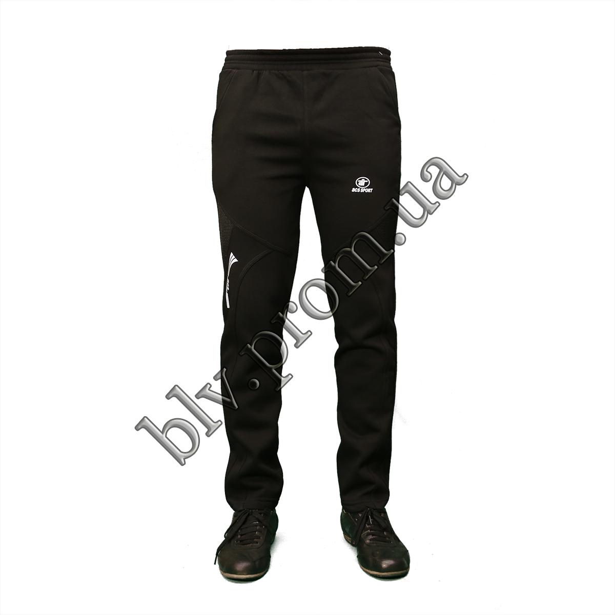 Теплые мужские молодежные брюки байка KD685 Black