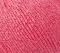 Летняя пряжа (60% хлопок, 40% акрил; 50г/ 165м) Gazzal Baby Cotton 3460 (розовый неон)