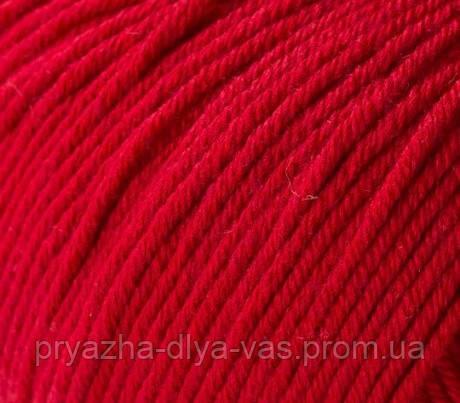 Летняя пряжа (60% хлопок, 40% акрил; 50г/ 165м) Gazzal Baby Cotton 3439 (тёмно-красный)