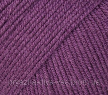 Летняя пряжа (60% хлопок, 40% акрил; 50г/ 165м) Gazzal Baby Cotton 3441 (т.фиолетовый)
