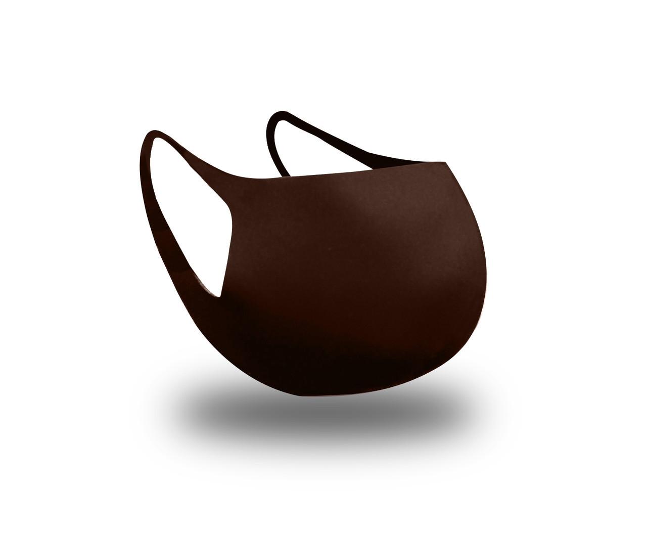 Багаторазова захисна маска для обличчя Fandy Standart+ 3-х шаровий неопрен шоколад дитячий