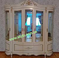Витрина белая Алегро 5ти дверная