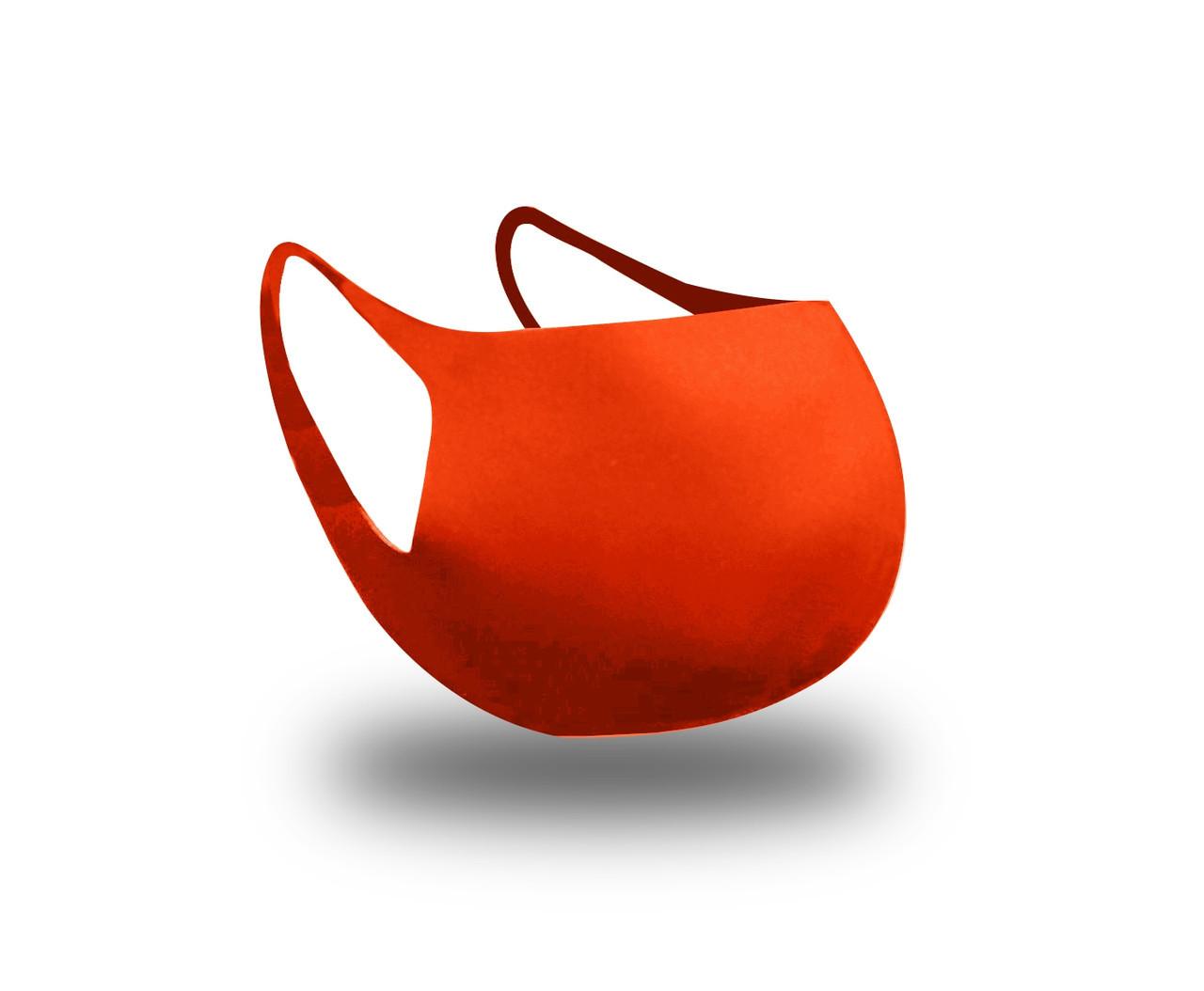Многоразовая защитная маска для лица Fandy Standart2+  3-х слойный неопрен оранж мужская