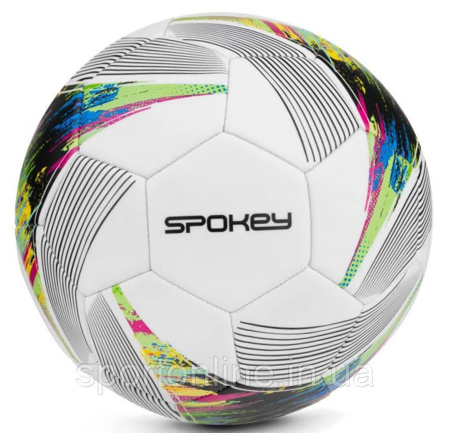 Футбольний м'яч Spokey PRODIGY, розмір №5, білий з малюнком
