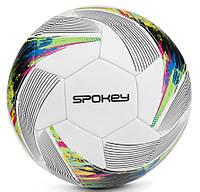 Футбольний м'яч Spokey PRODIGY, розмір №5, білий з малюнком, фото 1