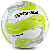 Волейбольный мяч Spokey Cumulus II размер №5, белый с салатовым 5