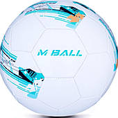 Футбольный мяч Spokey MBALL размер №5, белый с узорами