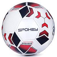 Футбольный мяч Spokey Agilit, размер №5, белый с черно-бордовым рисунком 5, фото 1
