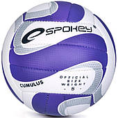 Волейбольный мяч Spokey Cumulus II размер №5, белый с синим рисунком