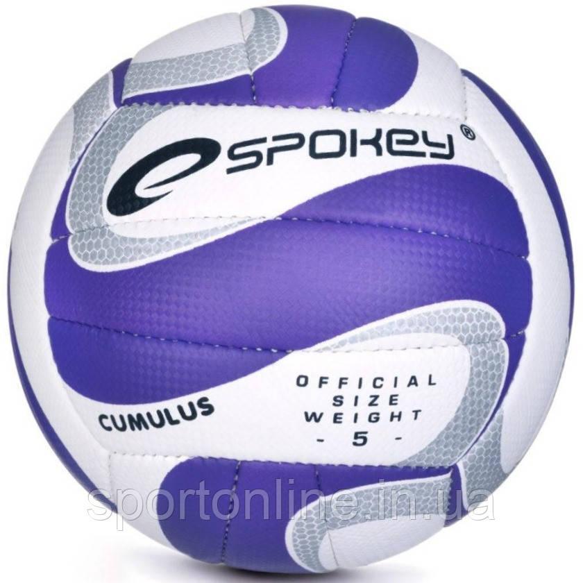 Волейбольный мяч Spokey Cumulus II размер №5, белый с синим рисунком 5