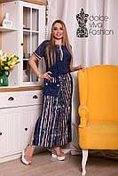 Стильное летнее платье большие размеры 46-58