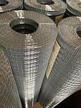Сетка Сварная оцинкованная 12,5х12,5 мм Ø 0,7 мм высота 1 м рулон 30 м, фото 7