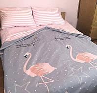 Комплект постельного белья Фламинго, разные размеры