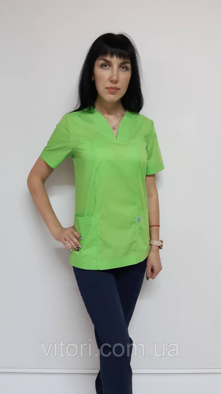 Жіночий медичний костюм Кенді сорочкова тканина короткий рукав