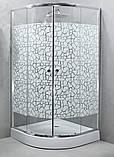 Душова кабіна StarWhite Y-6101 (90х90) низький піддон, малюнок мозаїка, фото 2